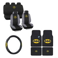 Batman 4 Pc Carpet Floor Mats And 3 Pc Seat Covers With Wheel Cover