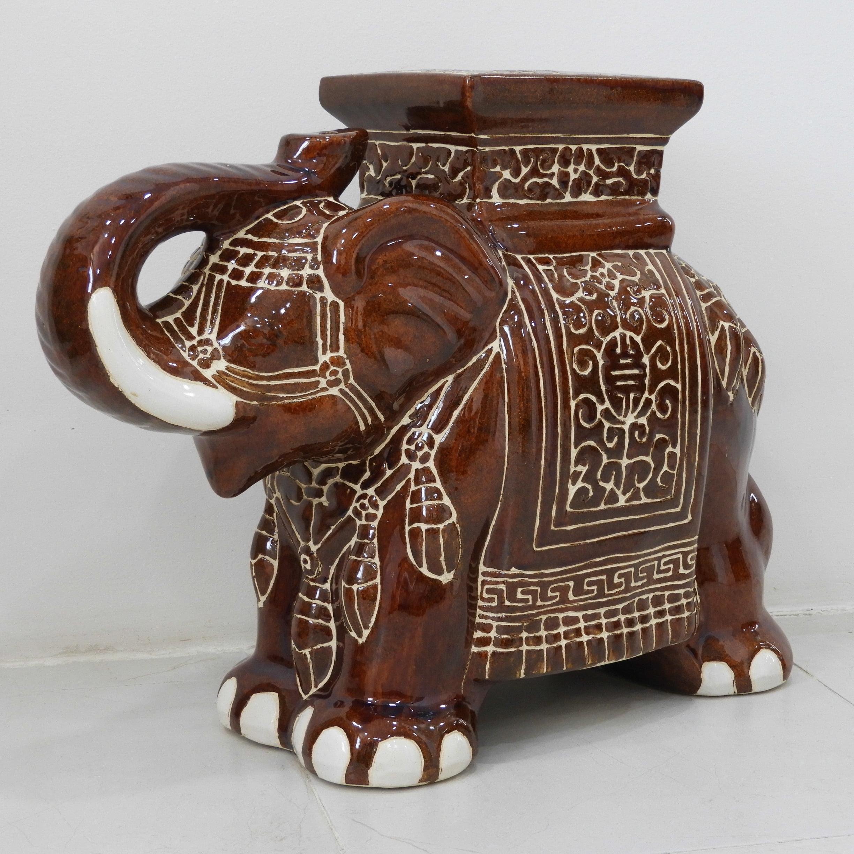 Large Porcelain Elephant Stool - Walmart.com