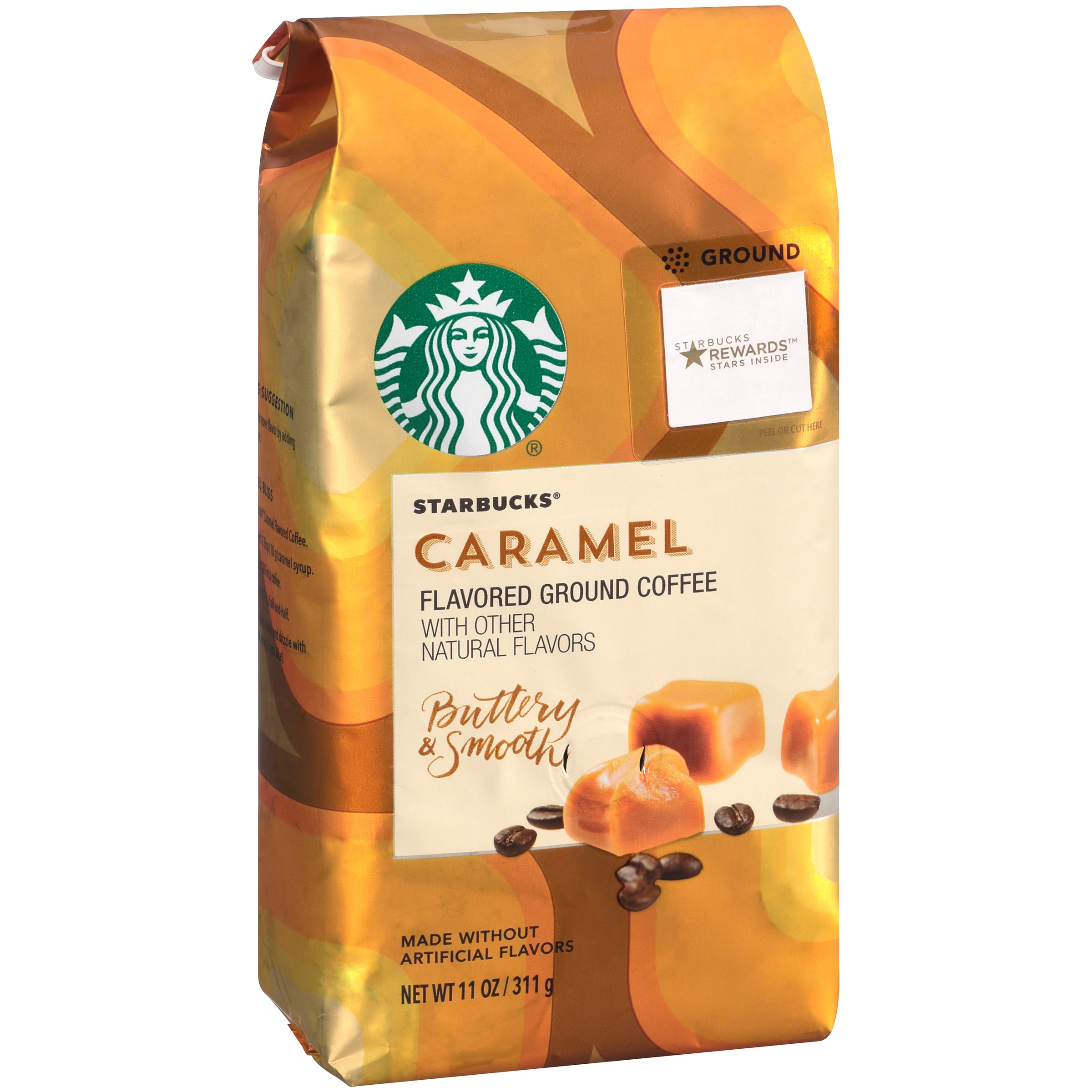Starbucks Caramel Flavored Coffee with Other Natural Flavor Smooth & Buttery 11 oz.... by STARBUCKS COFFEE COMPANY