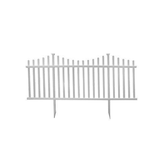 Zippity Outdoor Products 3.5' x 7.7' Manchester Semi Permanent Vinyl Picket Fence Kit (Set... by