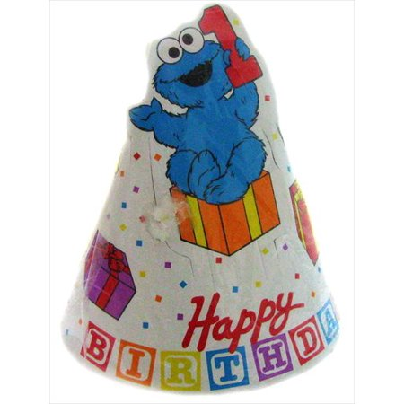 Sesame Street 1st Birthday Cone Hats 8ct