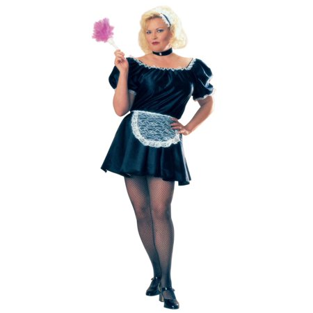 Rubies Womens French Maid Halloween Costume Full Cut Plus Plus Size - French Maid Costumes Plus Size