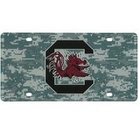 South Carolina Gamecocks Digi Camo Laser Cut License Plate - No Size