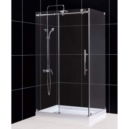 "Dreamline SHEN-6134480 Enigma-X 34-1/2"" X 48-3/8"" Fully Frameless Sliding Shower"