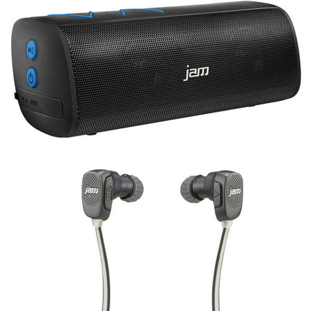 jam hx p320bl thrill speaker and jam hx ep400bk transit fitness bluetooth earbuds. Black Bedroom Furniture Sets. Home Design Ideas