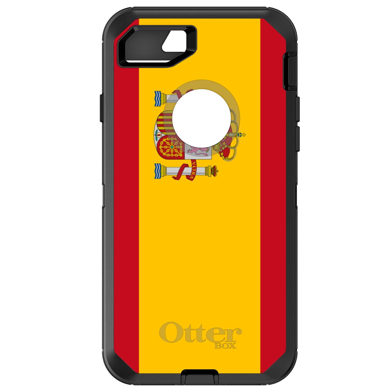 DistinctInk Custom Black OtterBox Defender Series Case for Apple iPhone 7  ...