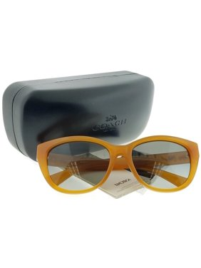 24a3b4a259 Product Image Coach HC8163-546311 Cat Eye Women s Amber Frame Grey Lens  Genuine Sunglasses NWT