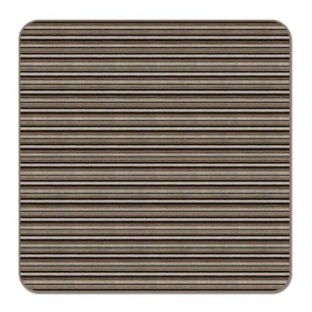 Skid-resistant Carpet Indoor Area Rug Floor Mat - Mocha Brown Stripe - 7' X 7' - Many Other Sizes to Choose From