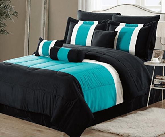 Serenity Red /& Black 10 Piece Comforter Bed In A Bag Set