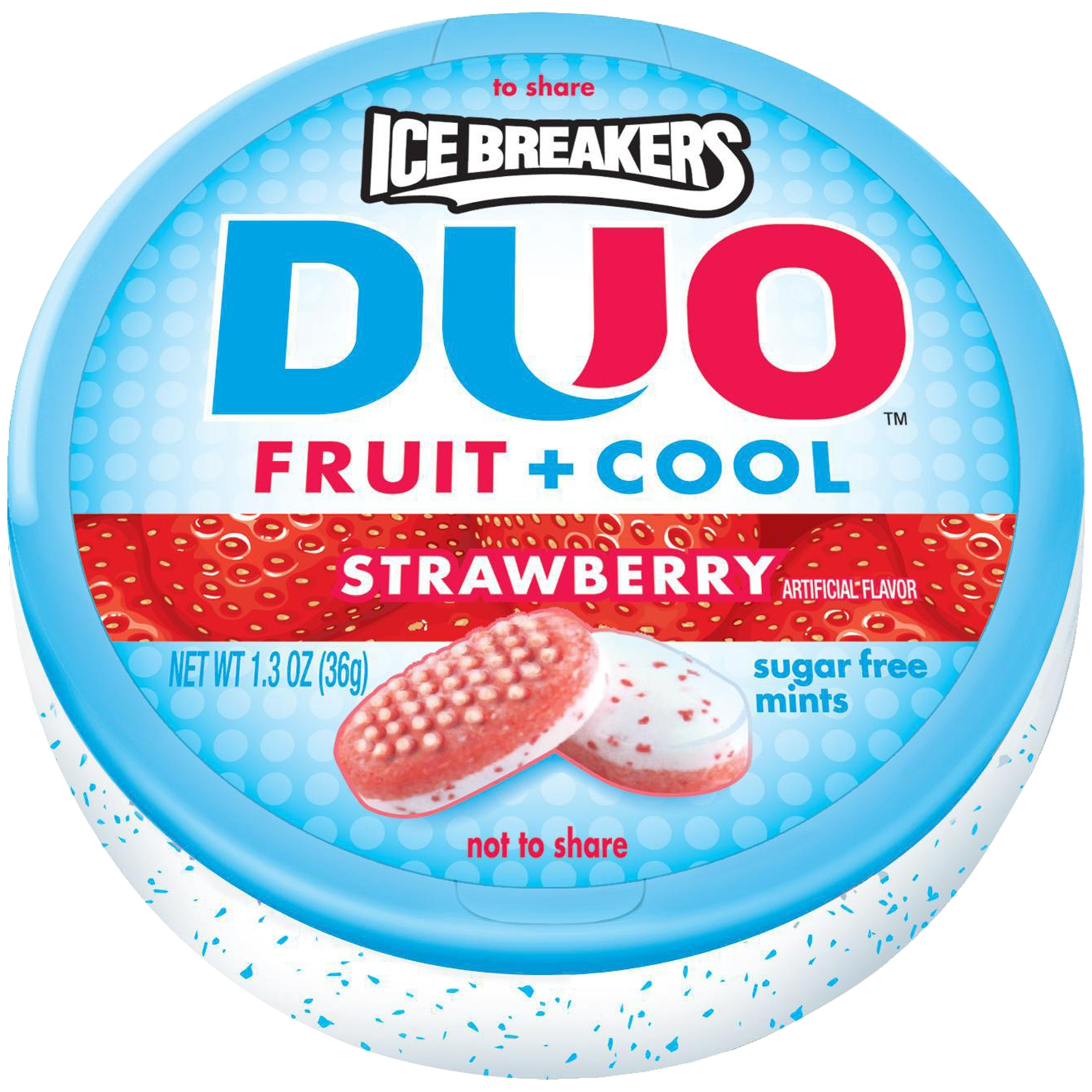 ICE BREAKERS DUO Strawberry Flavored Mints, 1.3 oz by Hershey