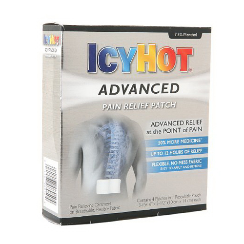Icy Hot Advanced Pain Relief Patch - 4 Ea
