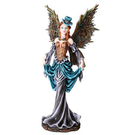 12 Inch Steampunk Dressed to The Nines Fairy Statue Figurine