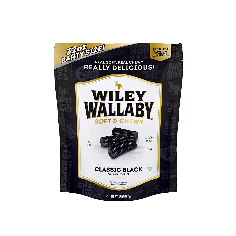 Wiley Wallaby Classic Black Licorice 32 Ounce Resealable Bag Walmart Com Walmart Com