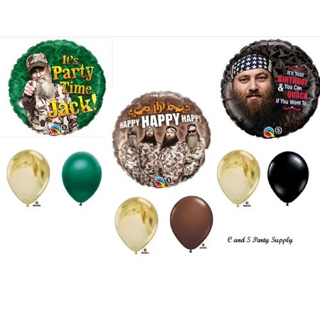 DUCK DYNASTY Camouflage Happy Birthday Party Balloons Favors Decorations Supplies