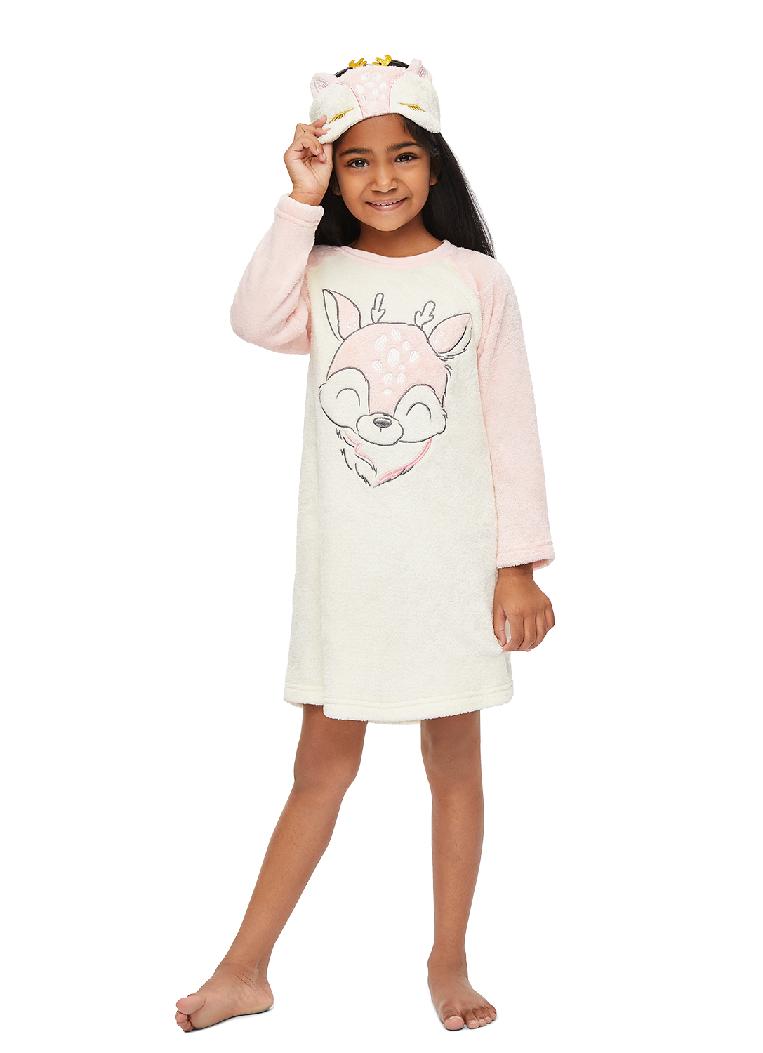 Jellifish Kids Girls Sleep Gown Applique and Embroidery Detail
