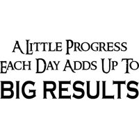 "Big Results, Inspirational Vinyl Wall Decal by Scripture Wall Art, 11""x22"" Black, Motivational, Office Décor"