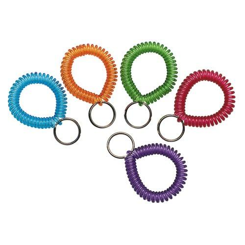Mmf Cool Coil Wrist Key Ring - Plastic - 1 Each - Assorted (20145AP47)