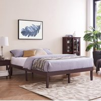 Isabella Wood Platform Bed by Naomi Home-Color:Espresso,Size:Twin XL