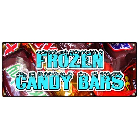 (FROZEN CANDY BARS BANNER SIGN snickers 3 three musketeers reeses stick)