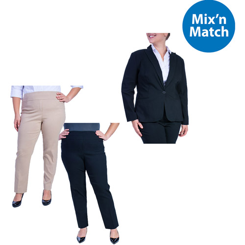 George Women's Plus Size Millenium Suiting Jacket and Pants Value Bundle