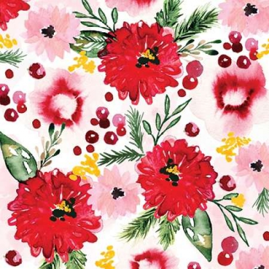 Christmas Floral III Poster Print by Sara Berrenson
