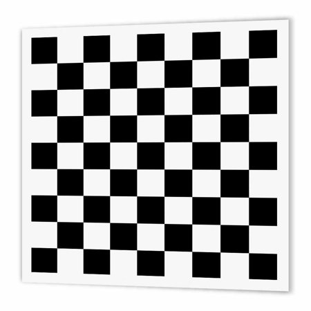 3dRose Check black and white pattern - checkered checked squares chess checkerboard or racing car race flag, Iron On Heat Transfer, 8 by 8-inch, For White Material for $<!---->