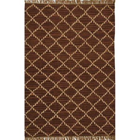 Acura Homes Hand-woven Kilim Brown Wool/ Jute Rug (5