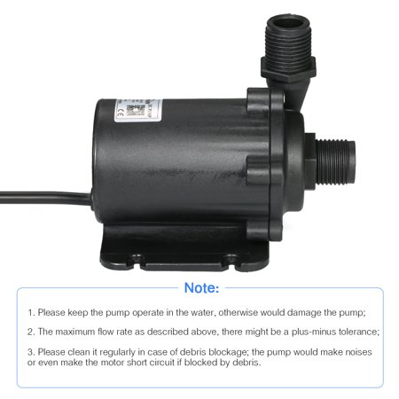 Bluefish DC24V 91.2W 1500L/H Lift 15m Brushless Water Pump with External Controller Waterproof Submersible Pump for Aquarium Fish Tank Tabletop Fountain Pond and Hydroponic Systems - image 7 of 7