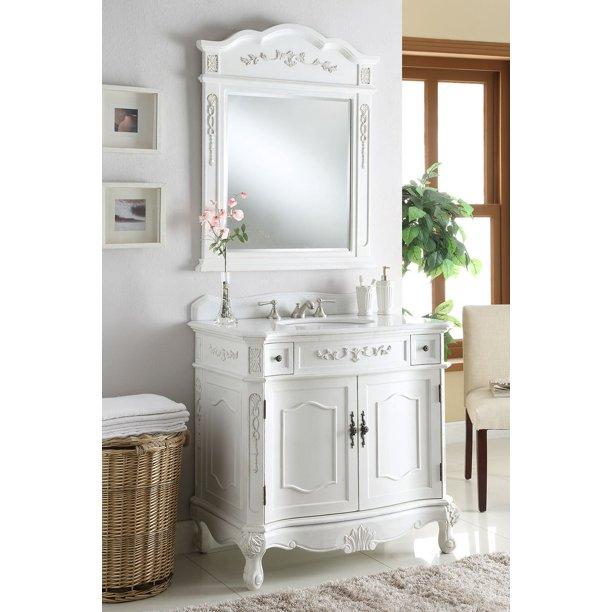 36 Benton Collection Fairmont Classic, 36 Inch Antique White Bathroom Vanity