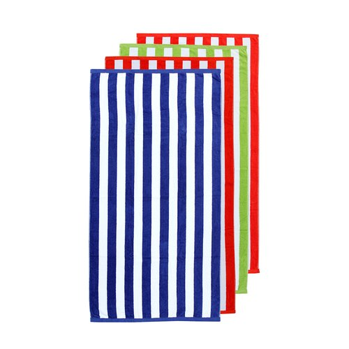 Friends & Home Striped Beach Towel Towel Set (Set of 4) by Friends & Home