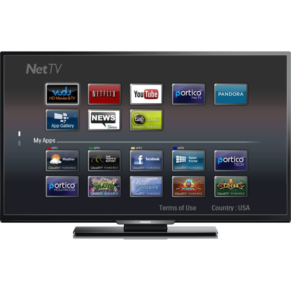 "Philips 49PFL4609 49"" 1080p Smart LCD HDTV with Wireless Net TV"