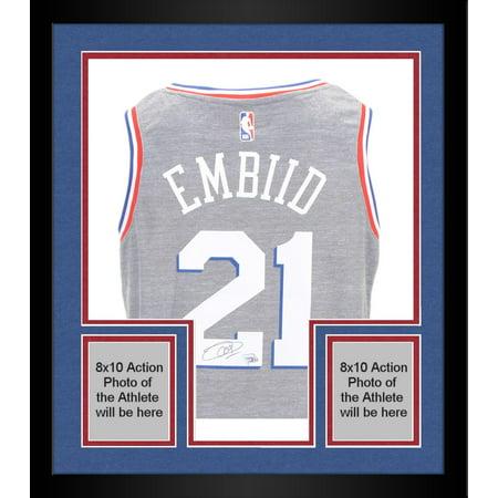 newest 10095 9a755 Framed Joel Embiid Autographed Philadelphia 76ers City Edition Swingman  Jersey - Fanatics Authentic Certified