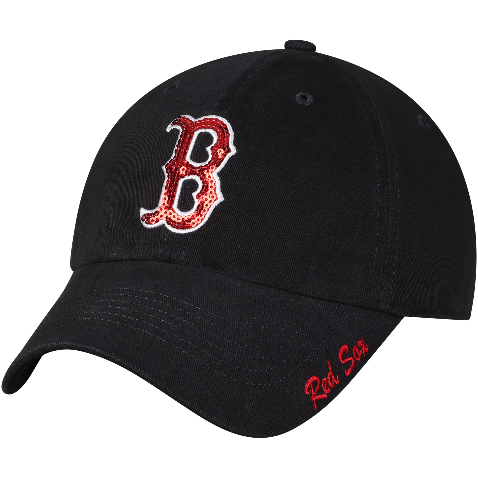 Women's Fan Favorite Navy Boston Red Sox Sparkle Adjustable Hat - OSFA