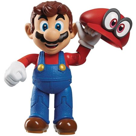 World of Nintendo Mario Odyssey with Hat Action Figure
