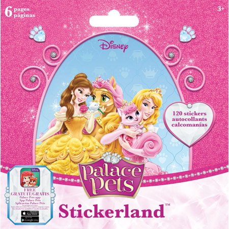 Mini Stickerland Pad - Disney Palace Pets - 6 pages Toys Stationery New st5185