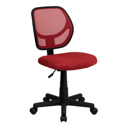 Low Back Mesh Swivel Task Chair Red - Flash Furniture
