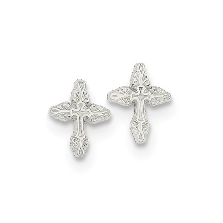 925 Sterling Silver Cross Religious Mini Post Stud Ball Button Earrings Fine Jewelry Ideal Mothers Day Gifts For Mom Women Gift Set From Heart