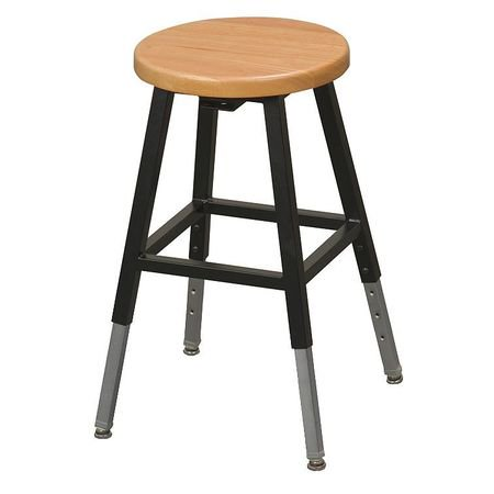 Balt Round Stool, Height Range 18-1/2  to 29 , Wood Tan, 34441R Balt Round Stool, Height Range 18-1/2  to 29 , Wood Tan, 34441R