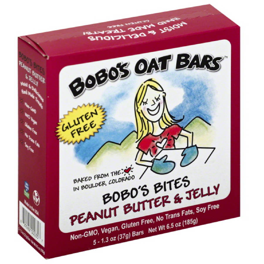Bobo's Oat Bars Bobo's Bites Peanut Butter & Jelly, 6.5 oz, (Pack of 6)