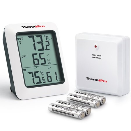 Humidity Thermometer - ThermoPro TP60 Wireless Thermometer Indoor Outdoor Digital Thermometer Temperature Humidity Monitor Meter 200ft / 60m Range
