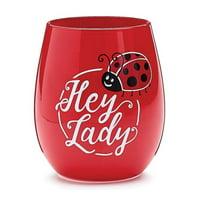 Burton & Burton Wine Glass Stemless Hey Lady