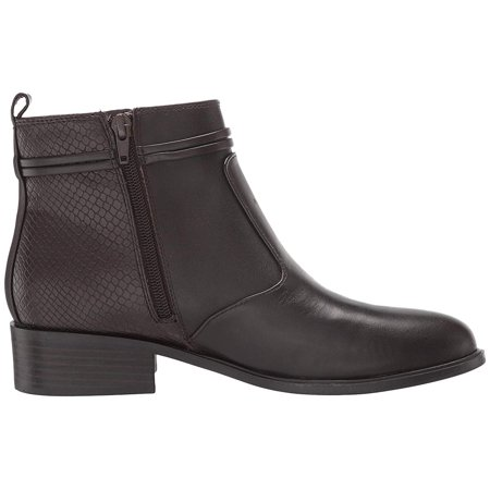 Danny Leather Heeled Booties Ladies Dark Brown Leather