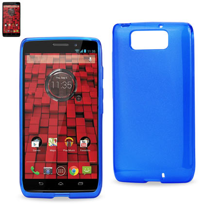 Polymer Case Contains Pearl Powder+Tpu Motorola Droid Maxx Xt-1080M Navy