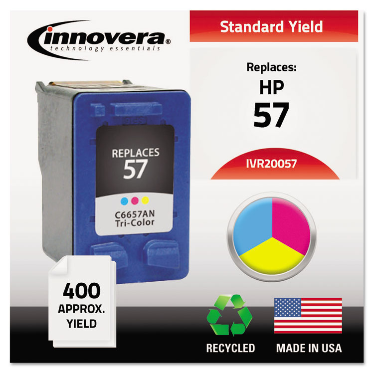 Innovera 20057 Compatible Remanufactured Ink, 500 Page-Yield, Tri-Color