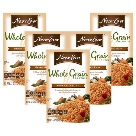 (60 Pack) Near East Whole Grain Blends, Brown Rice Pilaf, 6.17 oz Box