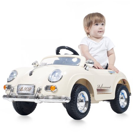 Ride On Toy Car, Battery Operated Classic Sports Car With Remote Control and Effects by Rockin' Rollers – Toys for Boys and Girls 2 – 5 Year Olds