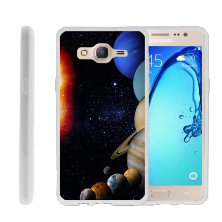 Samsung Galaxy On5 G550, Flexible Case [FLEX FORCE] Slim Durable  Sleek Bumper with Unique Designs - Planets Around the Sun