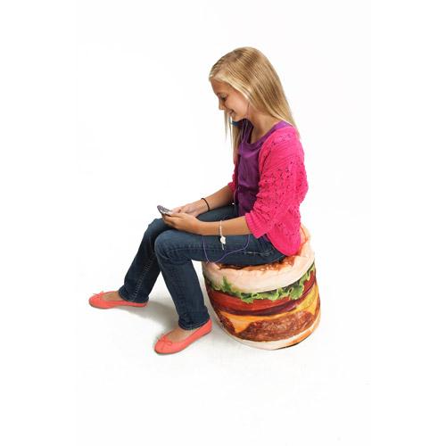 Wow Works Kid's Hamburger Bean Bag Chair