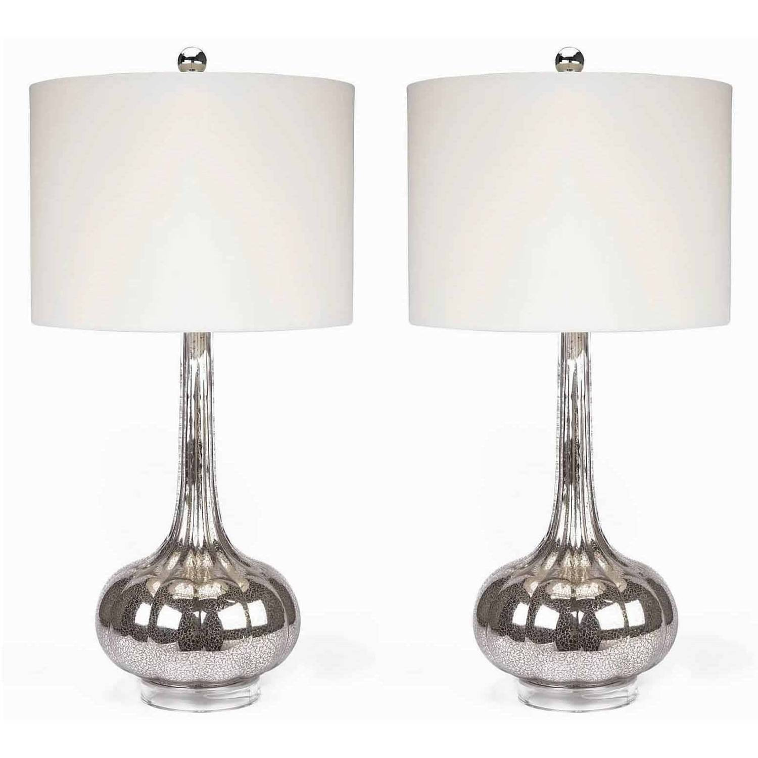 Devon and Claire Infinite Antiqued Glass Table Lamp, Set of 2