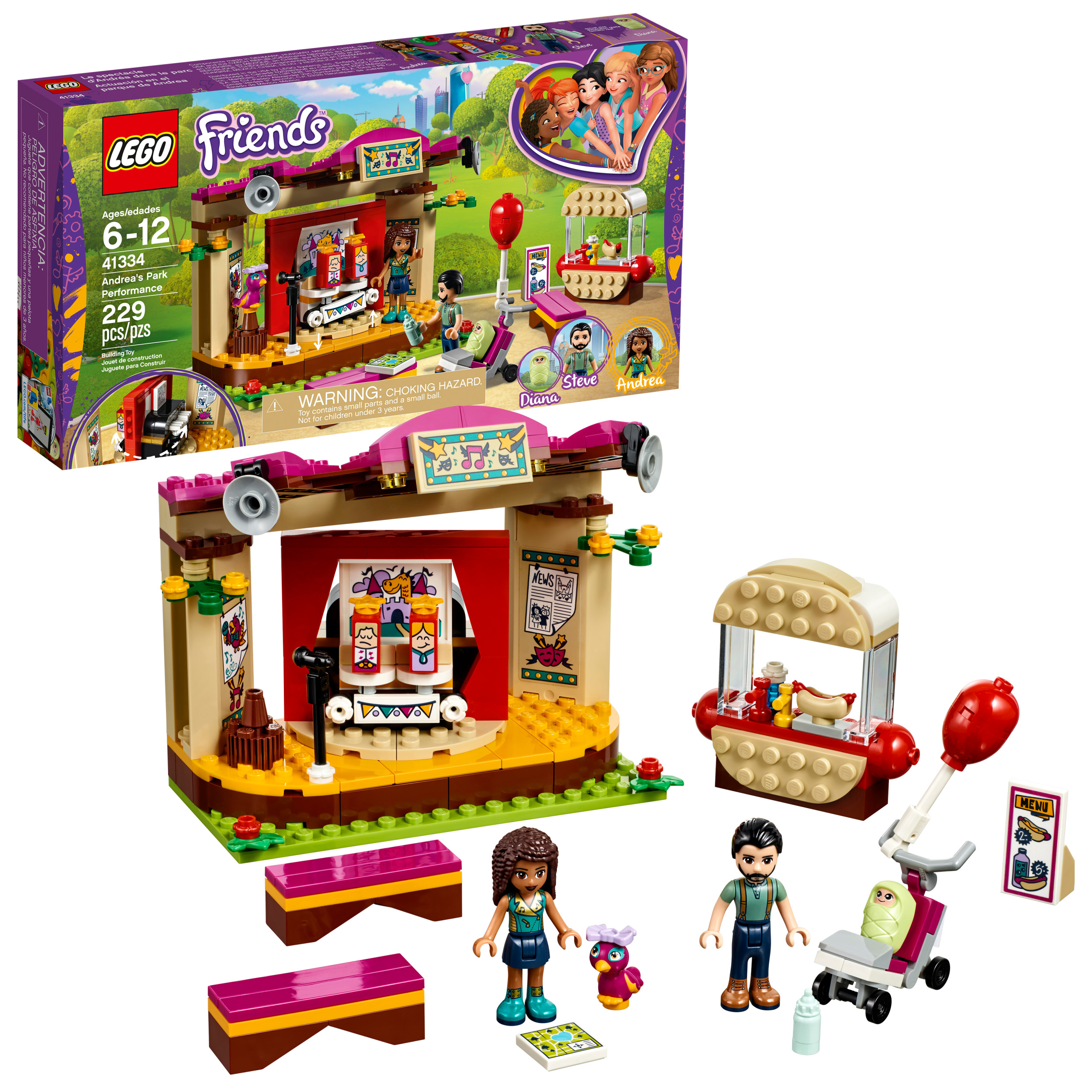 LEGO Friends Andrea's Park Performance 41334 (229 Pieces)